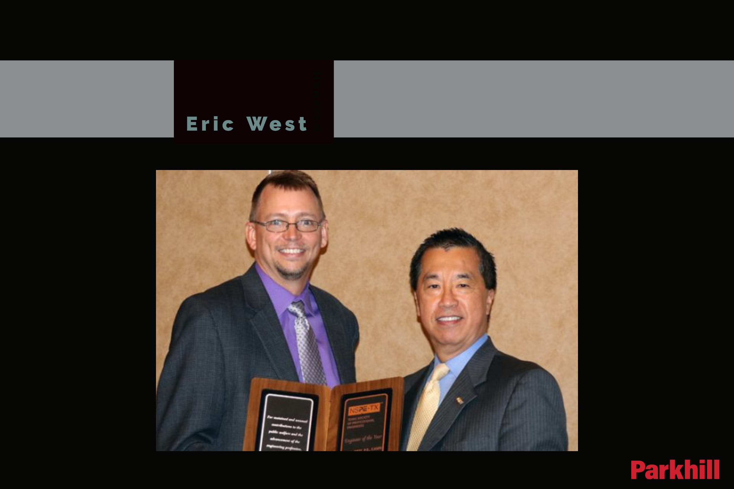 Eric West Named TSPE Engineer of the Year cover image