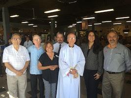 Bishop Blesses Parkhill Project for St. Vincent de Paul