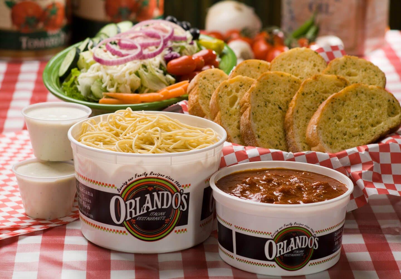 We'll Bring Orlando's Full Menu to You! Orlando's Delicious Italian Food