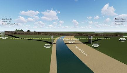 birdville-isd-cheney-hills-elementary-school-pedestrian-bridge