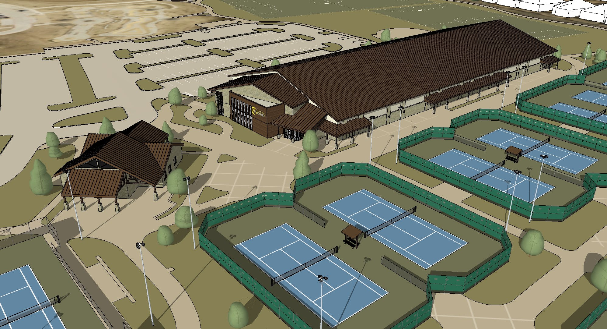 Gabe Nesbitt Indoor Tennis Center Gallery Images