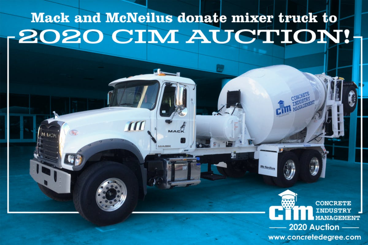 CIM Announces Donation By Mack Trucks and McNeilus for 2020 Annual Auction at World of Concrete cover image