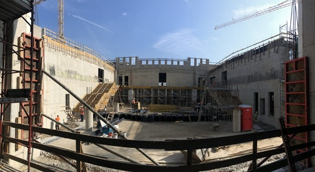 Ciao from the Vicenza High School Construction Site