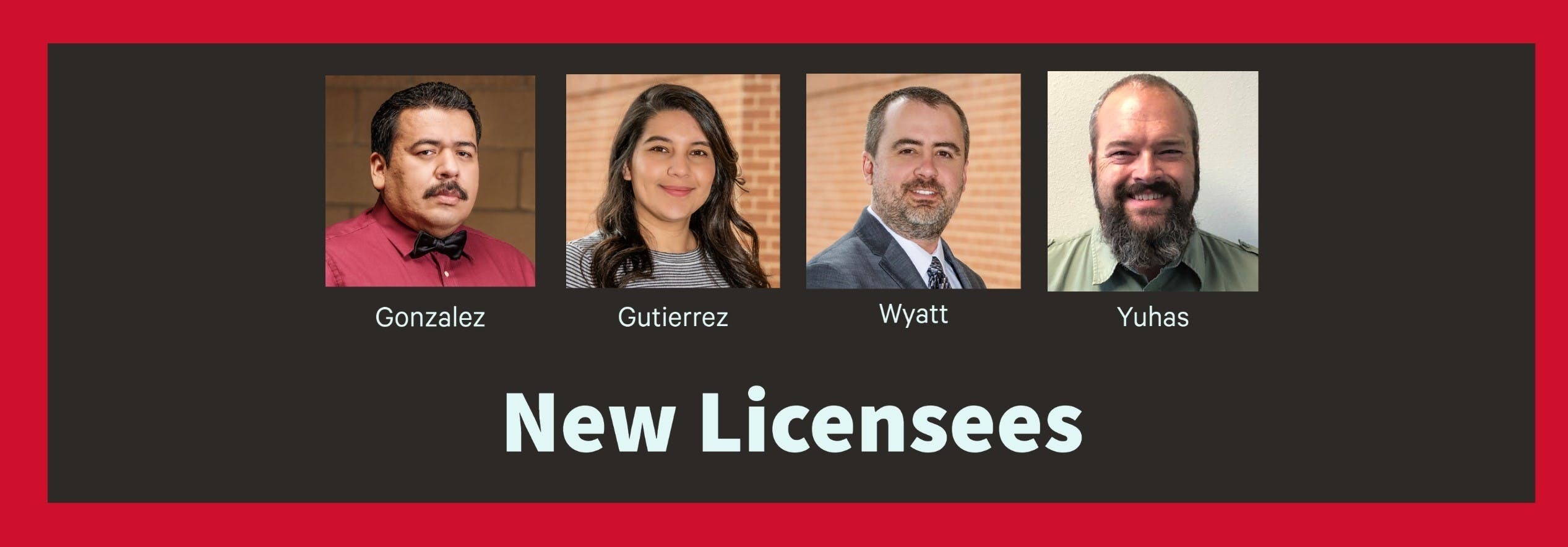 Four Parkhill employees receive licenses cover image
