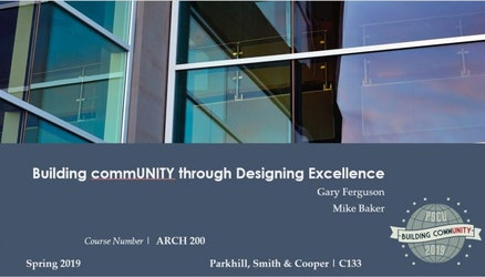 University of Parkhill 2019: Building CommUNITY Through Designing Excellence