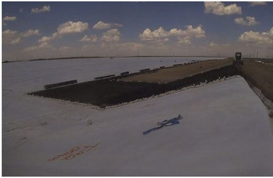 Time-Lapse Tuesday-New Liner Placement for Newman Pond Project Phase 2