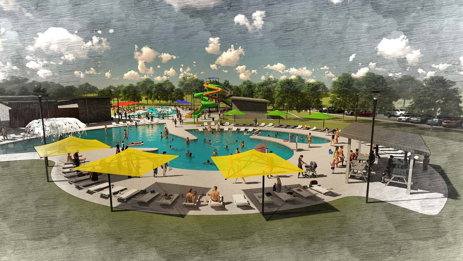 Amarillo officials give tour of Thompson Park Aquatic Facility construction site