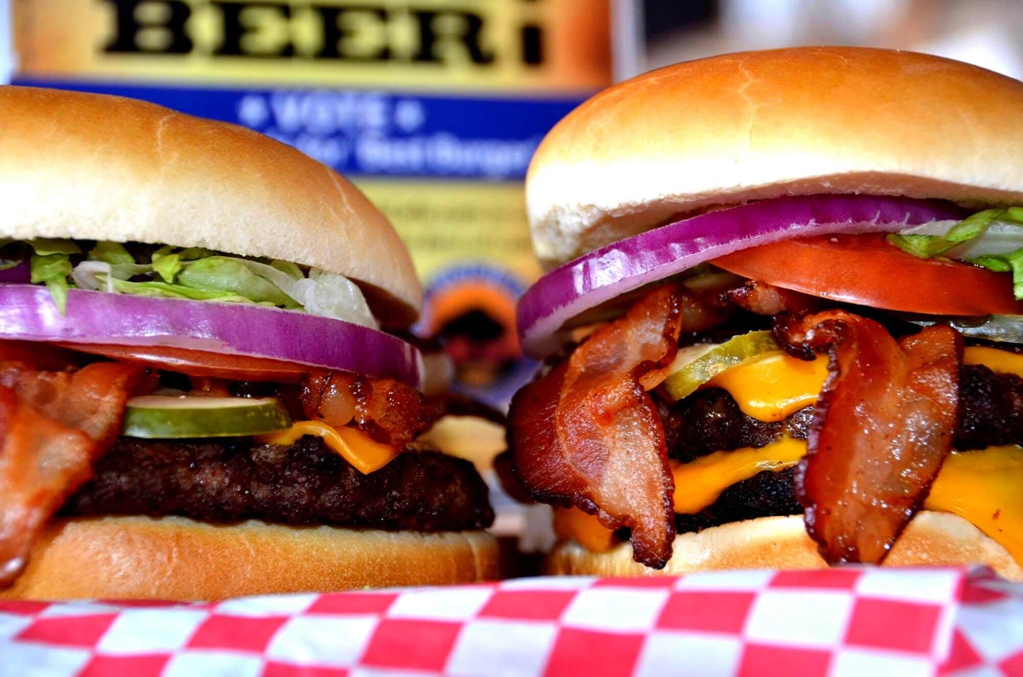 Caprock Cafe Burger with Purple Onion