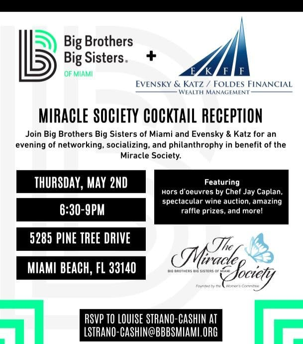 May 2, 2019 Miracle Society Cocktail Reception event