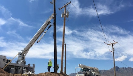 Time-Lapse Tuesday: New Electrical Pole & Transformer Set Installation at Newman Power Plant