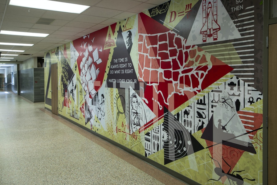 borger isd intermediate and middle school wall murals Gallery Images
