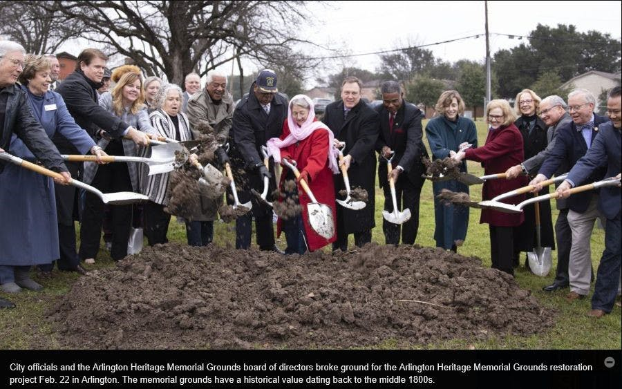 City of Arlington: Arlington Heritage Memorial Grounds Restoration Project